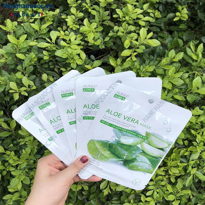 Mặt nạ dưỡng da lô hội Aloe Vera Mask Amisilk Korea