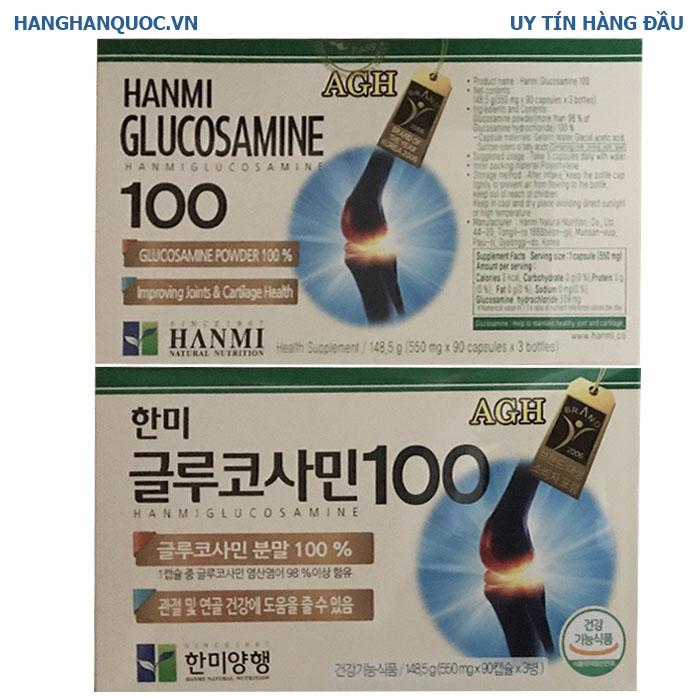 Bổ khớp Hàn Quốc Hanmi Glucosamine 100
