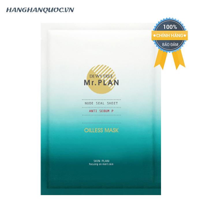 Mặt nạ nam cấp ẩm Dewytree Mr.Plan Oilless Mask