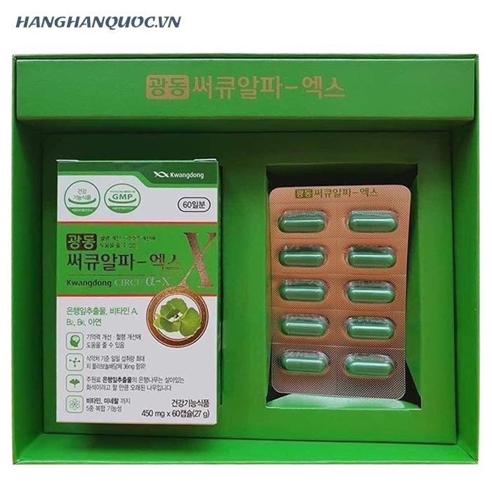 Viên uống bổ não Kwangdong Circu α-X