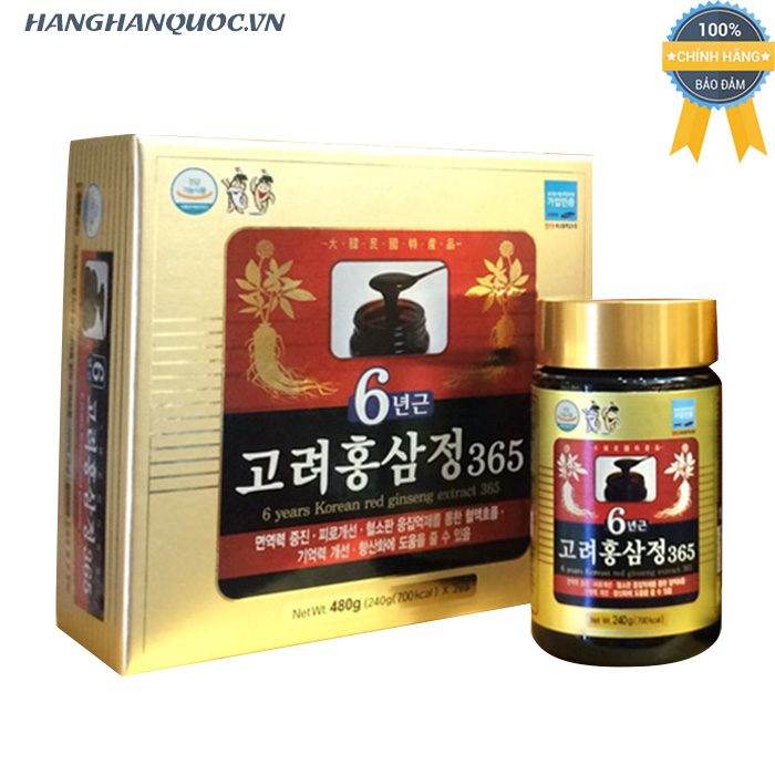 Cao hồng sâm 6 years Korean red ginseng extract 365