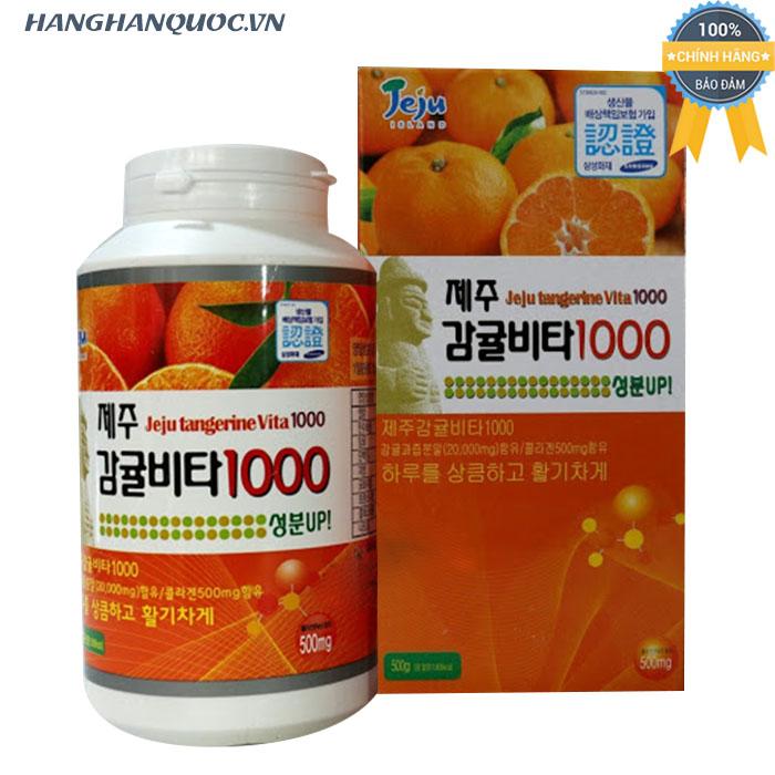 Viên ngậm vitamin C Jeju Tangerine Vita 1000