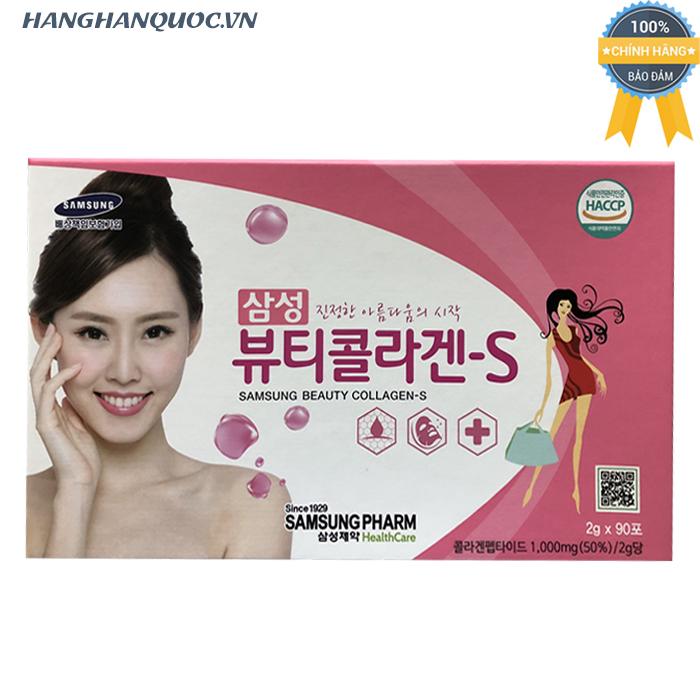 Bột uống đẹp da Samsung Beauty Collagen S