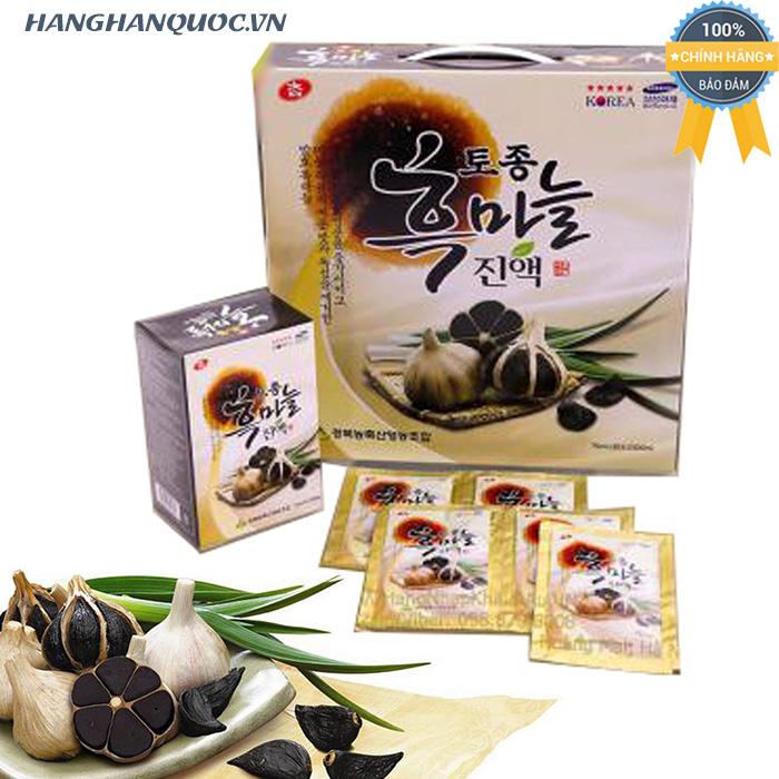 Nước ép tỏi đen Cham korean traditional black garlic